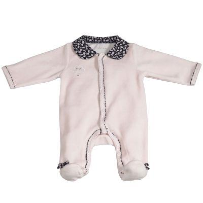 Pyjama chaud Miss Fleur de Lune rose (1 mois)  par Sauthon
