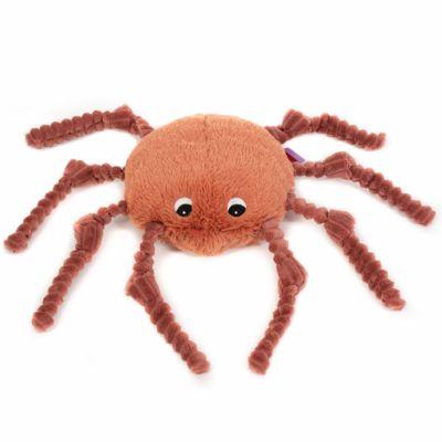 Peluche Les Ptipotos Ricominfou l'araignée terracotta (15 cm)  par Les Déglingos