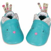 Chaussons cuir chat Les Pachats (0-6 mois) - Moulin Roty