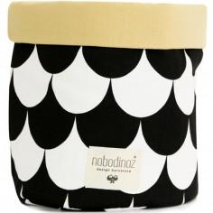 Panier de toilette Mambo Ecaille noire (15 x 19 cm)
