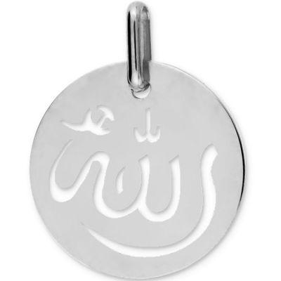 Médaille Allah ajourée (or blanc 750°)  par Lucas Lucor