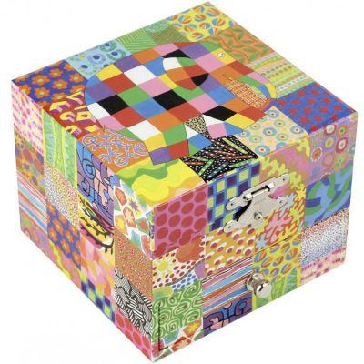 Coffret à bijoux cube Elmer Classic  par Trousselier