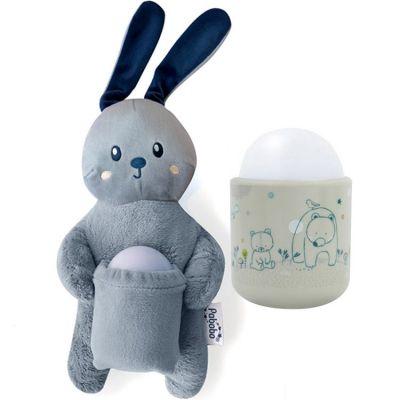 Coffret peluche et veilleuse nomade mimi bunny Pabobo
