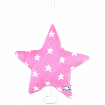 Coussin musical étoile Star fuchsia et blanc (30 cm) Baby's Only