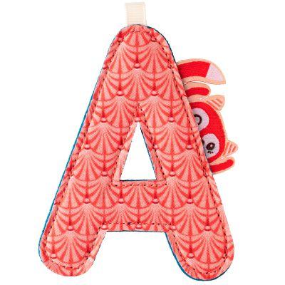 Lettre en tissu à suspendre réversible A Alice (9,5 cm)  par Lilliputiens