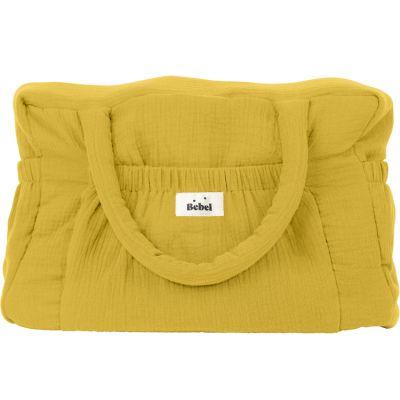 Sac à langer à anses jaune moutarde  par BEBEL