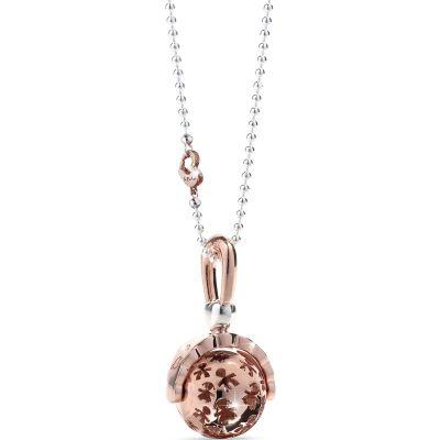 Bola sur chaîne hochet Suonamore (argent 925°, plaqué or rose, diamant)  par leBebé