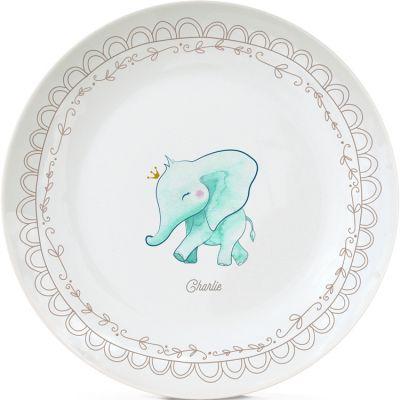 Assiette en porcelaine Éléphant (personnalisable)  par Gaëlle Duval