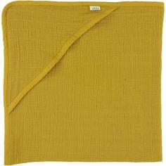Cape de bain Bliss jaune moutarde (75 x 75 cm)