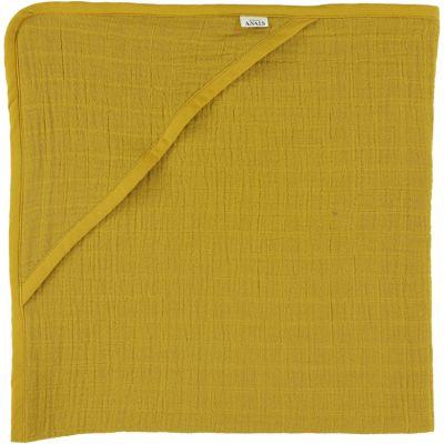 Cape de bain Bliss jaune moutarde (75 x 75 cm) Les Rêves d'Anaïs