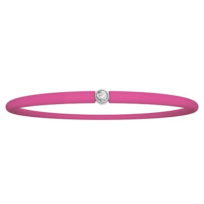 Bracelet diamant Original fuchsia (argent 925°)  par My First Diamond