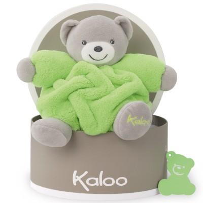 Coffret doudou boule Néon ours vert (18 cm) Kaloo