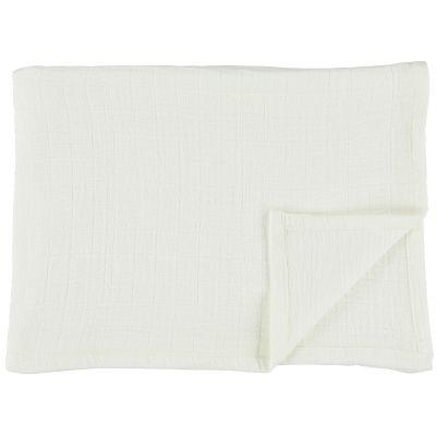 Lot de 2 langes en mousseline de coton Bliss White (110 x 110 cm)  par Trixie
