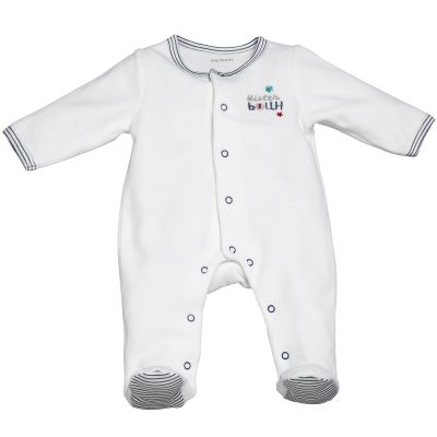 Pyjama chaud Mister Bouh blanc (Naissance : 50 cm)  par Sauthon
