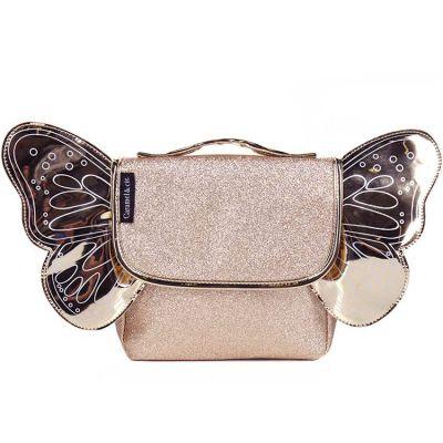 Cartable maternelle pailleté Papillon doré  par Caramel & Cie