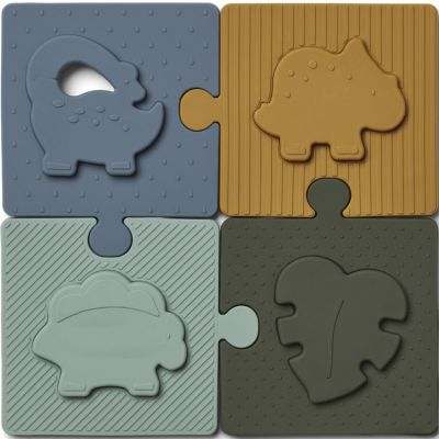 Puzzle en silicone Bodil Dino blue multi mix (8 pièces)  par Liewood