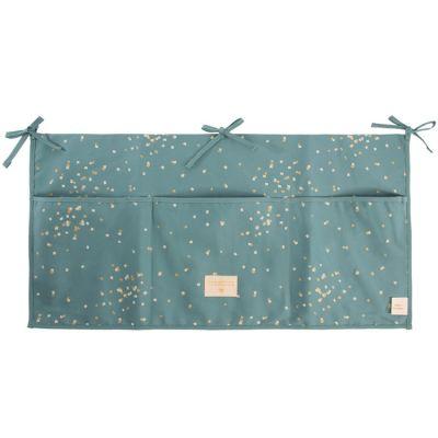 Vide-poches à suspendre Merlin Gold Confetti vert  par Nobodinoz