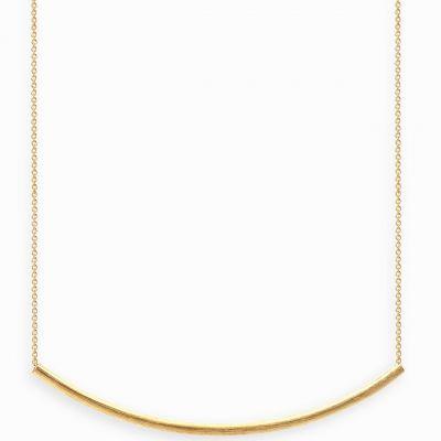 Collier chaîne 40 cm Linear arc 60 mm (vermeil doré)  par Coquine