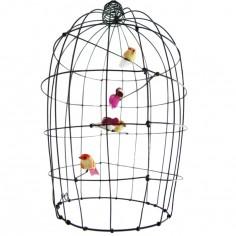 Petite cage volière décorative en fil de fer