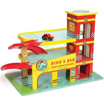 Garage rouge de Dino Le Toy Van
