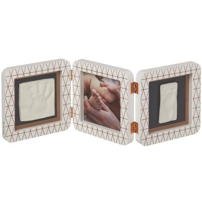 Cadre photo empreinte My Baby Touch blanc en bronze Cooper Edition (3 volets)