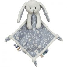 Doudou plat lapin Adventure blue (19 x 19 cm)  par Little Dutch