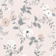 Papier peint intissé Symphonie des roses Grace (10 m)