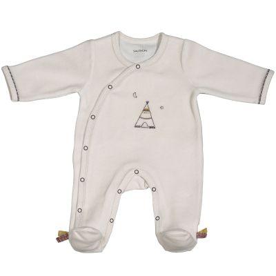 Pyjama chaud Timouki beige (3 mois)  par Sauthon