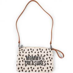 Pochette Mommy Clutch canvas Léopard