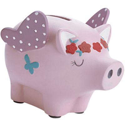 Tirelire cochon rose clair (9 x 12 cm)