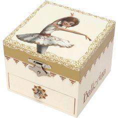 Boîte à bijoux musicale cube phosphorescente Ballerina