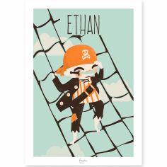 Affiche A3 Les Pirates Le moussaillon (personnalisable)