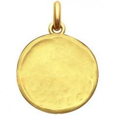 Médaille laïque martelée (or jaune 750°)