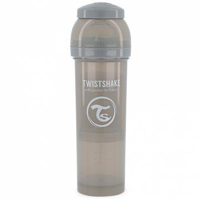 Biberon anti-colique gris pastel (330 ml)  par Twistshake