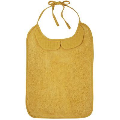 Bavoir à nouer Soft Bambou moutarde  par BB & Co