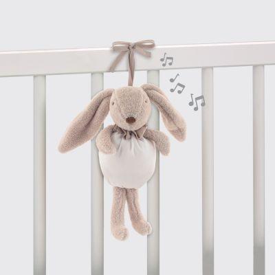 Lapin musical Etoile blanc (27 cm) Pasito a pasito