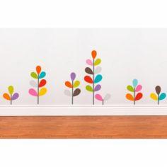 Stickers muraux Plantes multicolores