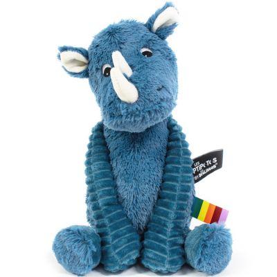 Peluche Les Ptipotos Grobisou le rhinocéros bleu (26 cm)  par Les Déglingos