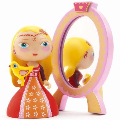 Poupée de plastique Nina & ze mirror (14 cm)  par Djeco