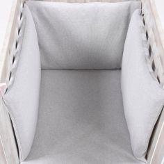Tour de lit Perle de riz rose (pour lits 60 x 120 et 70 x 140 cm)