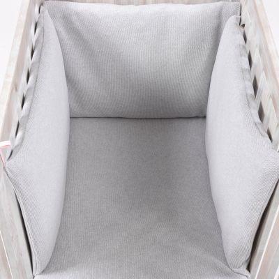 Tour de lit Perle de riz rose (pour lits 60 x 120 et 70 x 140 cm)  par Nougatine