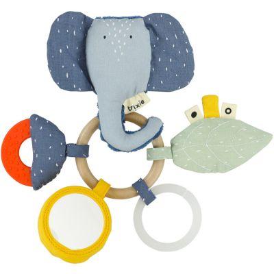 Anneau hochet d'activités Mrs. Elephant  par Trixie
