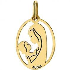 Médaille Vierge à l'enfant (or jaune 750°)