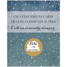 Carte à gratter Annonce de grossesse Concentré d'amour Noël (8 x 10 cm)