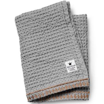 couverture en coton gaufr grise et dor 75 x 100 cm par elodie details. Black Bedroom Furniture Sets. Home Design Ideas