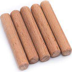 Lot de 5 tourillons en bois (5 cm)