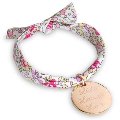 Bracelet maman Liberty avec médaille personnalisable (plaqué or)  par Merci Maman