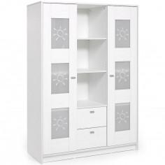 Armoire 2 portes Sol blanc