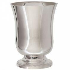 Timbale à pied Perles personnalisable (métal argenté) dans son coffret