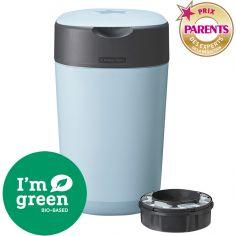 Poubelle à couches Twist & click bleue + 1 recharge